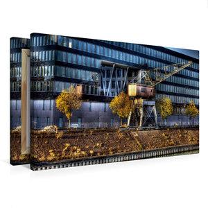 Premium Textil-Leinwand 75 cm x 50 cm quer Duisburger Innenhafen