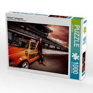 VW Golf 1 Turbogockel 1000 Teile Puzzle quer