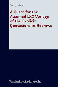 A Quest for the Assumed LXX Vorlage of the Explicit Quotations i