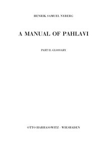 A Manual of Pahlavi Part 2