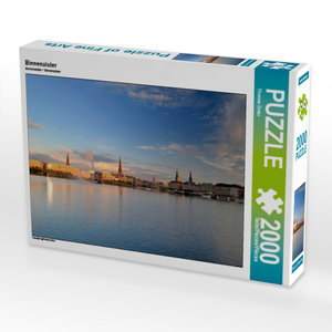 Binnenalster 2000 Teile Puzzle quer