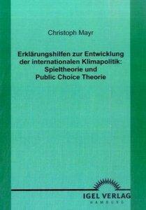 Erklärungshilfen zur Entwicklung der internationalen Klimapoliti