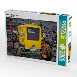 Oldtimer Traktor Miag 2000 Teile Puzzle quer