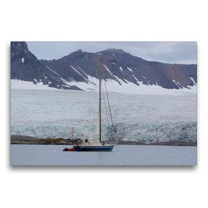 Premium Textil-Leinwand 75 cm x 50 cm quer Segelyacht in einem F