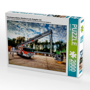 Teleskopmastbühne Werkfeuerwehr Salzgitter AG 2000 Teile Puzzle