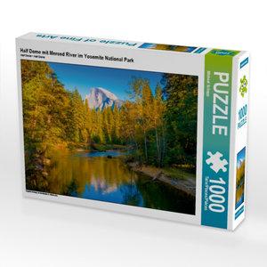 Half Dome mit Merced River im Yosemite National Park 1000 Teile