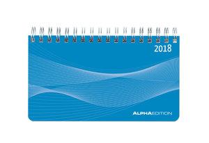Mini-Querkalender 2018 PP blau