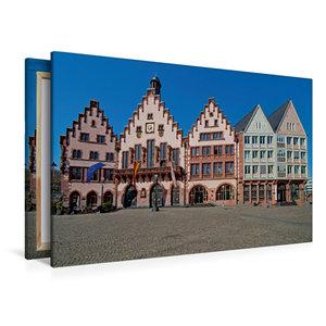 Premium Textil-Leinwand 120 cm x 80 cm quer Römer, Frankfurt
