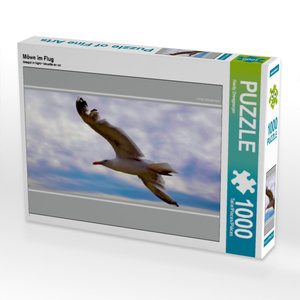 Möwe im Flug 1000 Teile Puzzle quer