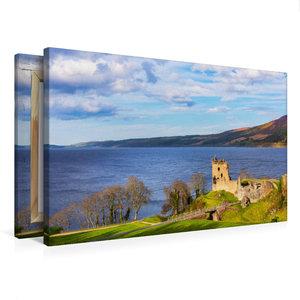 Premium Textil-Leinwand 75 cm x 50 cm quer Urquhart Castle