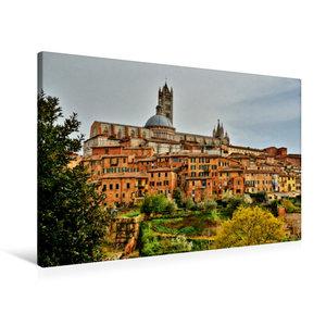 Premium Textil-Leinwand 90 cm x 60 cm quer Siena, die Perle der