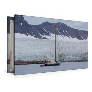 Premium Textil-Leinwand 120 cm x 80 cm quer Segelyacht in einem