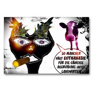 Premium Textil-Leinwand 90 cm x 60 cm quer Euthanasie