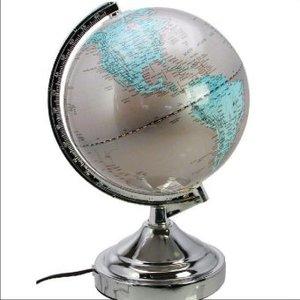 Globus mit Leuchte, Kunststoff