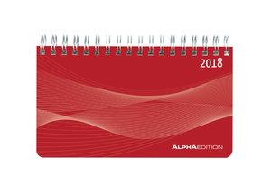 Mini-Querkalender 2018 PP rot