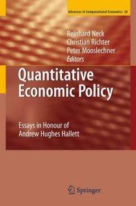 Quantitative Economic Policy