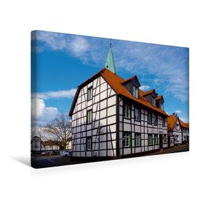 Premium Textil-Leinwand 45 cm x 30 cm quer Klassisches Fachwerkh