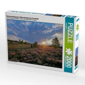 Sonnenuntergang im Büsenbachtal bei Handeloh 2000 Teile Puzzle q