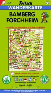 Bamberg. Forchheim 1 : 50 000. Fritsch Wanderkarte