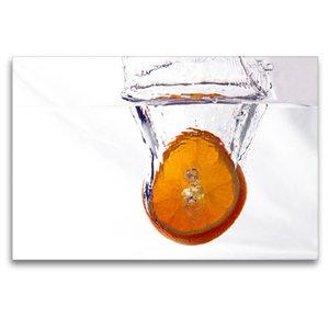 Premium Textil-Leinwand 120 cm x 80 cm quer Orange