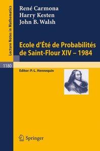 Ecole d'Ete de Probabilites de Saint Flour XIV, 1984