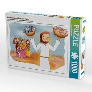 Jesus vermehrt Brot und Fisch 1000 Teile Puzzle quer