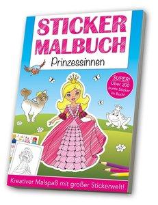 Stickermalbuch: Prinzessinnen