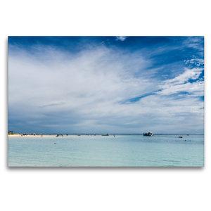 Premium Textil-Leinwand 120 cm x 80 cm quer Coral Bay
