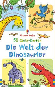 50 Quiz-Karten: Die Welt der Dinosaurier