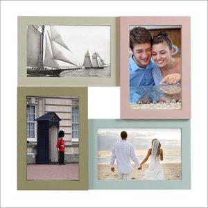 Bilderrahmen Collage Pastell 4fach