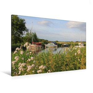 Premium Textil-Leinwand 120 cm x 80 cm quer Boote am River Frome