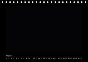 Geburtstags - Bastelkalender - Schwarz (Tischkalender immerwähre