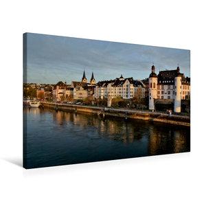 Premium Textil-Leinwand 75 cm x 50 cm quer Das Moselufer in Kobl