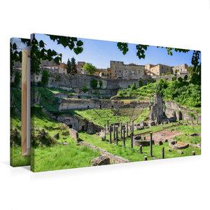 Premium Textil-Leinwand 75 cm x 50 cm quer Volterra: Der Bau des