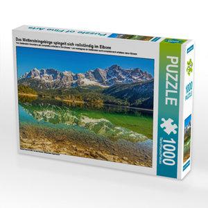 CALVENDO Puzzle Das Wettersteingebirge spiegelt sich vollständig