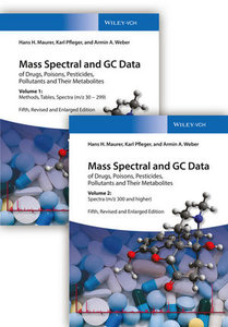 Mass Spectral and GC Data of Drugs, Poisons, Pesticides, Polluta