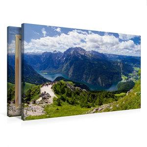 Premium Textil-Leinwand 75 cm x 50 cm quer Der Königssee im Berc