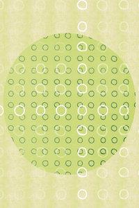 Premium Textil-Leinwand 30 cm x 45 cm hoch Punkte, Grün und Weiß