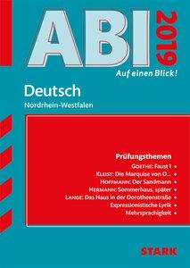Abi - auf einen Blick! Deutsch Nordrhein-Westfalen