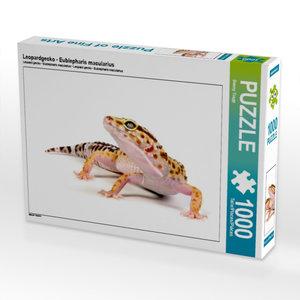Leopardgecko - Eublepharis macularius 1000 Teile Puzzle quer