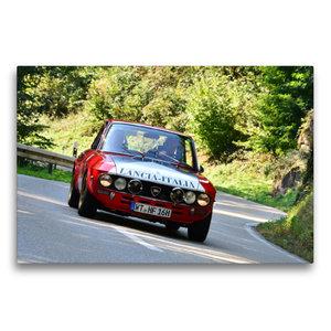 Premium Textil-Leinwand 75 cm x 50 cm quer Lancia Fulvia HF Bj.