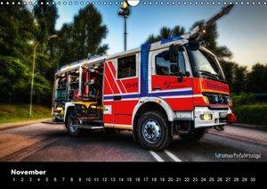 HDR Einsatzfahrzeuge (Wandkalender immerwährend DIN A3 quer)