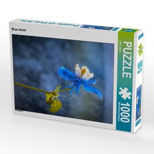 CALVENDO Puzzle Blaue Akelei 1000 Teile Lege-Größe 48 x 64 cm Fo