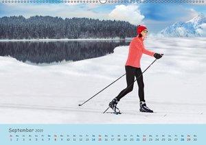 Langlaufen - für Körper und Seele (Wandkalender 2019 DIN A2 quer