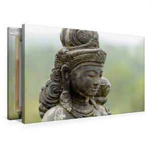 Premium Textil-Leinwand 75 cm x 50 cm quer Diese Statue beschütz