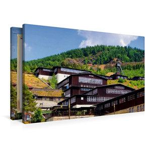 Premium Textil-Leinwand 90 cm x 60 cm quer Besucherbergwerk Ramm
