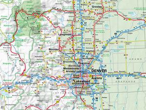 Colorado 1 : 825 000. Straßenkarte