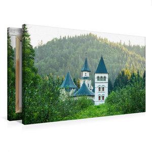 Premium Textil-Leinwand 75 cm x 50 cm quer Kloster Putna