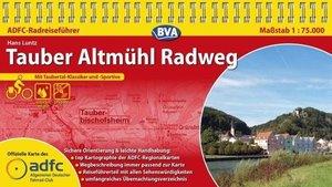 ADFC Radreiseführer Tauber Altmühl Radweg 1 : 75 000