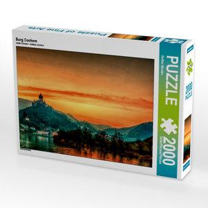 Burg Cochem 2000 Teile Puzzle quer
